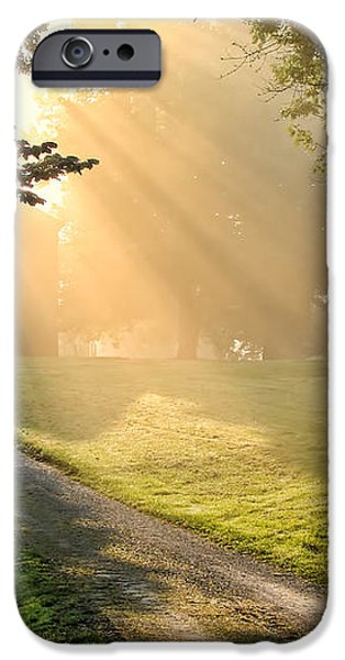Morning on Country Road iPhone Case by Olivier Le Queinec