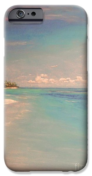 Beach Landscape Pastels iPhone Cases - Morning On The Beach iPhone Case by The Beach  Dreamer