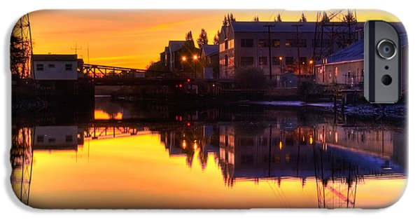 Industry iPhone Cases - Morning on the River iPhone Case by Bill Gallagher