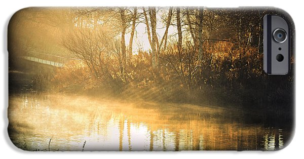 Autumn Scene Photographs iPhone Cases - Morning Rays iPhone Case by Julie Palencia