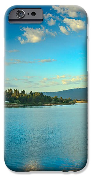 Morning Reflections On Lake Cascade iPhone Case by Robert Bales