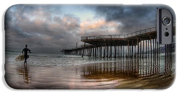 Recently Sold -  - Animals Photographs iPhone Cases - Morning Session in Pismo iPhone Case by Sean Foster
