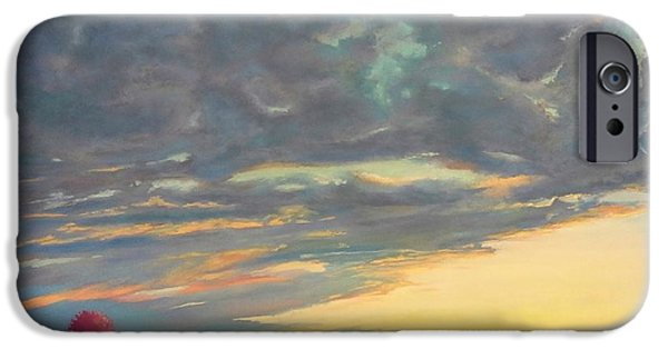 Morning Pastels iPhone Cases - Morning Sky iPhone Case by Regina Calton Burchett