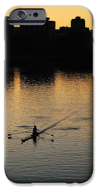 Northeastern University iPhone Cases - Morning Solitude iPhone Case by James Kirkikis