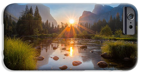 Cathedral Rock iPhone Cases - Morning Star iPhone Case by Mike Lee