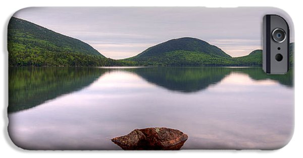 Maine iPhone Cases - Morning Stillness On Eagle Lake, Acadia iPhone Case by Panoramic Images