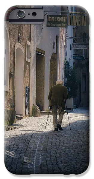 Salzburg iPhone Cases - Morning stroll iPhone Case by Chris Fletcher