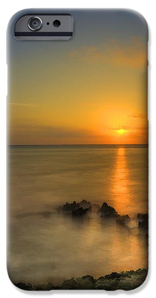 Morning sun rising in the Grand Caymans iPhone Case by Dan Friend