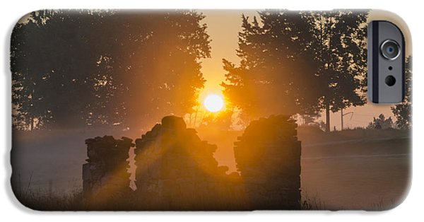 Philadelphia Cricket Club iPhone Cases - Morning Sunrise at Philadelphia Cricket Club iPhone Case by Bill Cannon