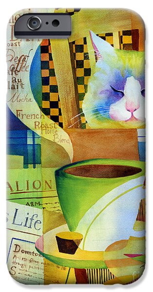 Newspaper iPhone Cases - Morning Table iPhone Case by Hailey E Herrera