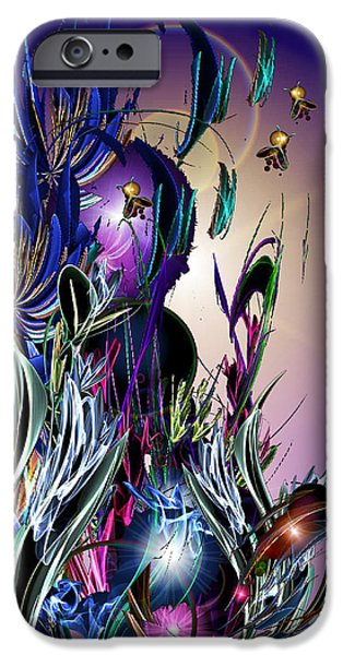 Faries iPhone Cases - Morning Visitors iPhone Case by ReeNee  Cummins