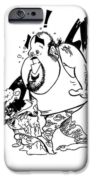 Owner Drawings iPhone Cases - Morning Wake up iPhone Case by Big Mike Roate