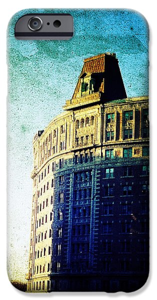 Morningside Heights Blue iPhone Case by Natasha Marco