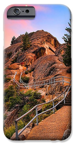 Drama iPhone Cases - Moro Rock Path iPhone Case by Inge Johnsson