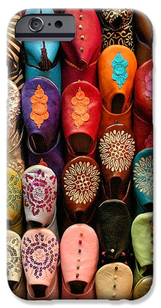 Moroccan Babouches Old Medina Marrakesh Morocco iPhone Case by Ralph A  Ledergerber-Photography