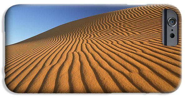 Simple Beauty In Colors iPhone Cases - Morocco, Detail Of Sand Dune At Dawn iPhone Case by Ian Cumming