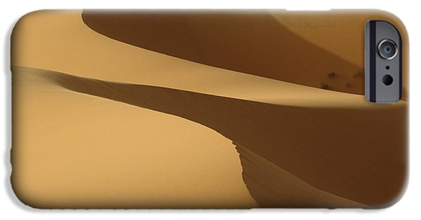 Simple Beauty In Colors iPhone Cases - Morocco, Detail Of Sand Dunes At Dawn iPhone Case by Ian Cumming