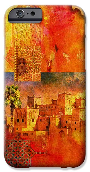 Morocco Heritage Poster 00 iPhone Case by Catf