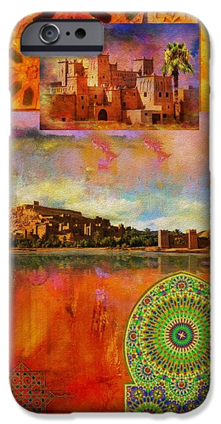 Morocco Heritage POster iPhone Case by Catf