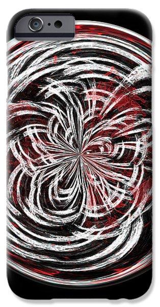 Morphed iPhone Cases - Morphed Art Globe 15 iPhone Case by Rhonda Barrett
