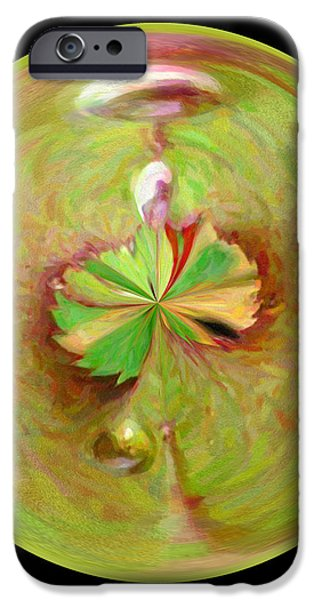 Morphed Art Globe 21 iPhone Case by Rhonda Barrett