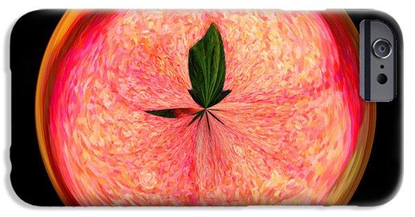 Morphed iPhone Cases - Morphed Art Globe 23 iPhone Case by Rhonda Barrett