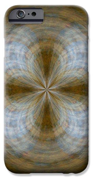 Morphed Art Globe 24 iPhone Case by Rhonda Barrett