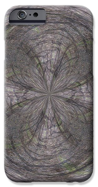 Morphed Art Globe 26 iPhone Case by Rhonda Barrett