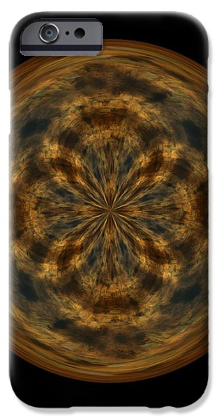 Morphed Art Globe 29 iPhone Case by Rhonda Barrett