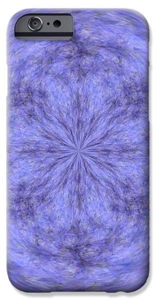 Morphed Art Globe 30 iPhone Case by Rhonda Barrett