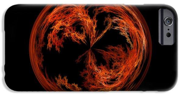 Morphed iPhone Cases - Morphed Art Globe 37 iPhone Case by Rhonda Barrett