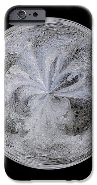 Morphed iPhone Cases - Morphed Art Globe 4 iPhone Case by Rhonda Barrett
