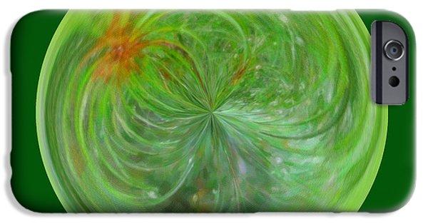 Morphed iPhone Cases - Morphed Art Globe 5 iPhone Case by Rhonda Barrett