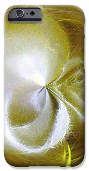 Morphed Art Globe 8 iPhone Case by Rhonda Barrett