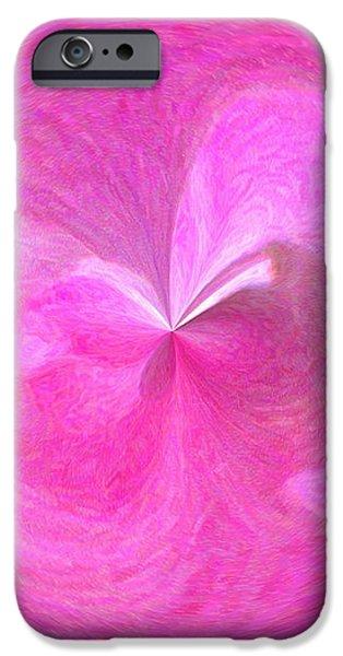 Morphed Art Globe 9 iPhone Case by Rhonda Barrett