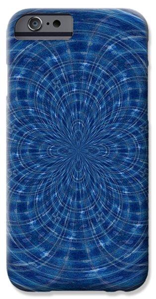Morphed Art Globes 34 iPhone Case by Rhonda Barrett