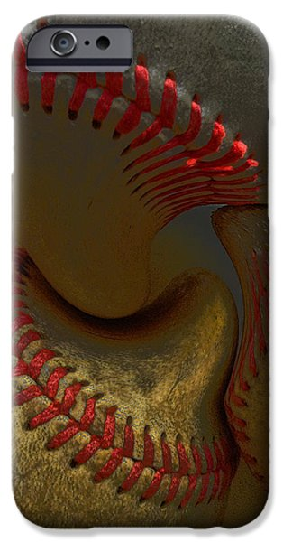 Morphing Baseballs iPhone Case by Bill Owen