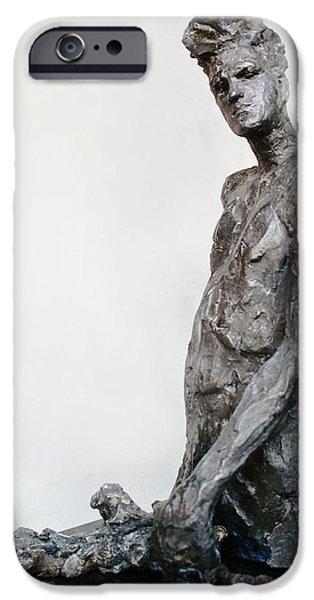 Celebrities Sculptures iPhone Cases - Morrissey iPhone Case by Karen Swenholt