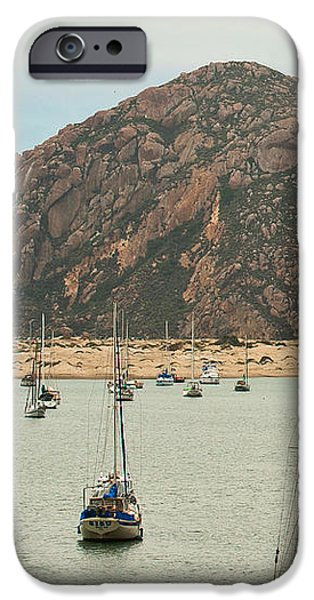 Morro Bay Rock at Dawn iPhone Case by Artist and Photographer Laura Wrede