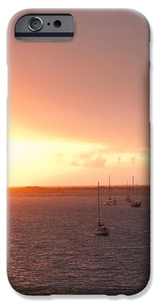 Morro Bay Rock at Sunset iPhone Case by Artist and Photographer Laura Wrede