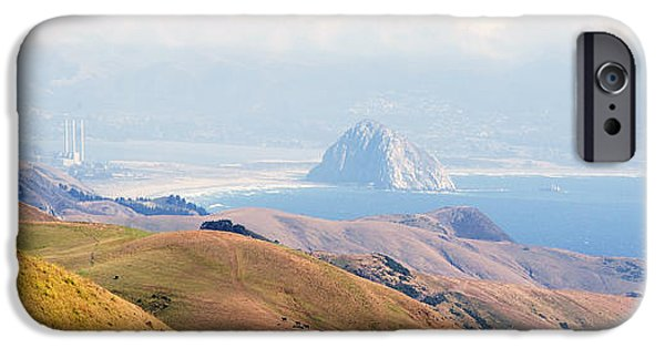 Famous Highway 1 In California iPhone Cases - Morro Bay Rock Vista Overlooking Highway 46 Paso Robles California iPhone Case by Artist and Photographer Laura Wrede