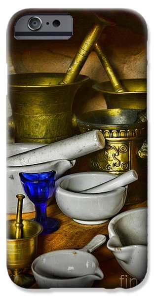 Old Grinders iPhone Cases - Mortars and Pestles iPhone Case by Paul Ward