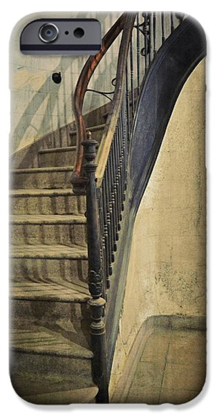 Morton iPhone Cases - Morton Hotel Stairway iPhone Case by Michelle Calkins