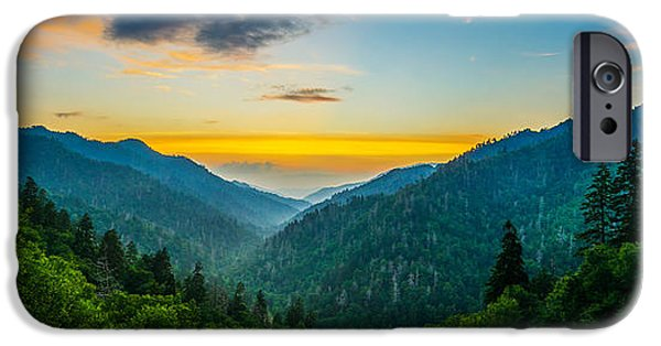 Morton iPhone Cases - Mortons overlook panoramic iPhone Case by Anthony Heflin