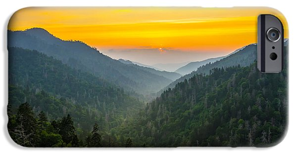 Morton iPhone Cases - Mortons overlook sunset iPhone Case by Anthony Heflin