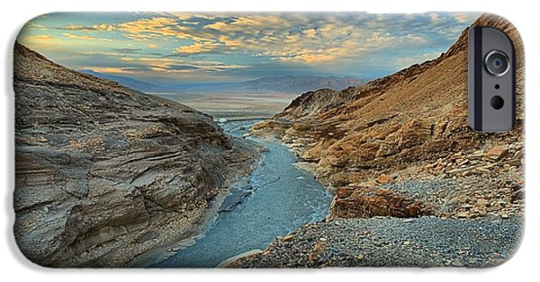 Mosaic iPhone Cases - Mosaic Canyon Sunset iPhone Case by Adam Jewell