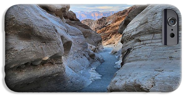 I Am Not iPhone Cases - Mosaic Canyon Twilight iPhone Case by Adam Jewell
