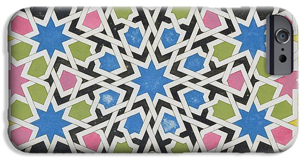 Mosaic iPhone Cases - Mosaic design from the Alhambra iPhone Case by James Cavanagh Murphy