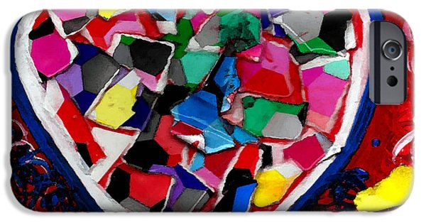 Esson iPhone Cases - Mosaic Heart iPhone Case by Genevieve Esson