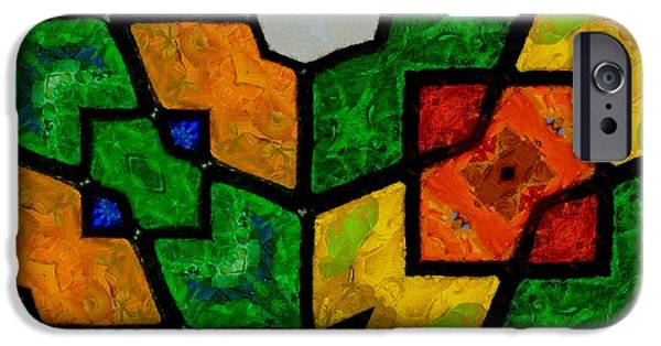 Rubiks Cube iPhone Cases - Mosaic Pattern iPhone Case by Dan Sproul